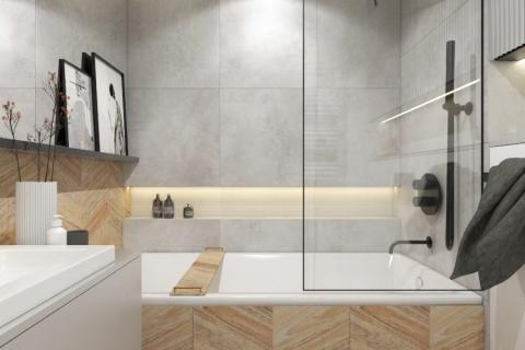 Projekt łazienki w Katowicach